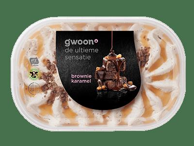 g'woon brownie karamel ijs 900 ml