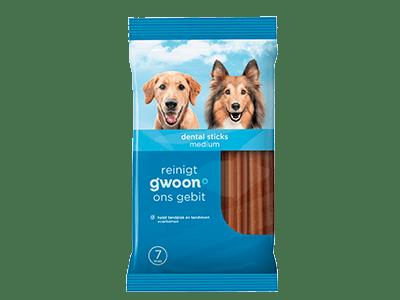 g'woon dental sticks medium 7 stuks