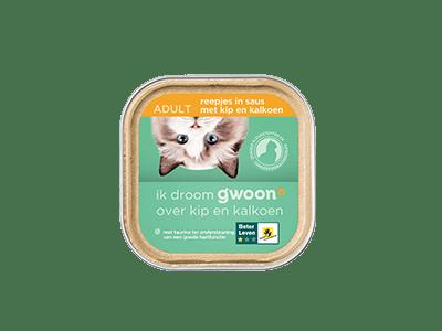 g'woon reepjes in saus met kip en kalkoen adult 85 gram