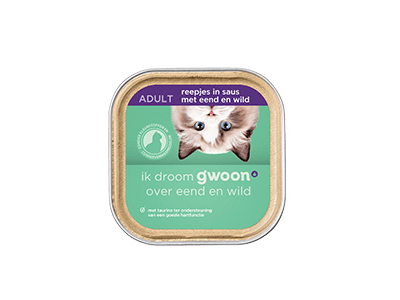 g'woon reepjes in saus met eend en wild adult 85 gram