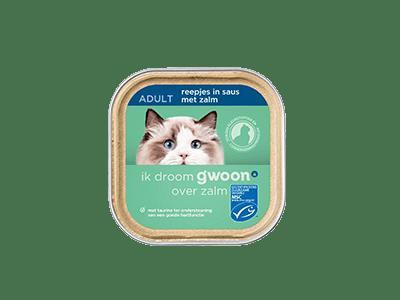 g'woon reepjes in saus met zalm adult 85 gram