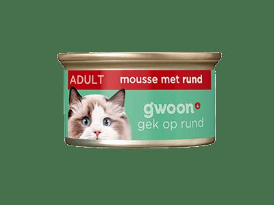 g'woon mousse met rund adult 85 gram