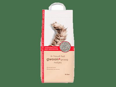 g'woon kattenbakvulling sterk absorberend voordeelverpakking 16 liter