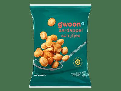 g'woon aardappelschijfjes 600 gram