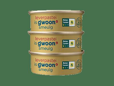 g'woon leverpastei 3-pack 3*56 gram