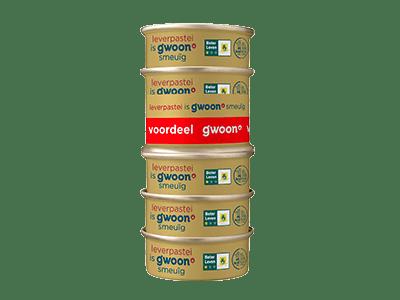 g'woon leverpastei 6-pack 6*56 gram