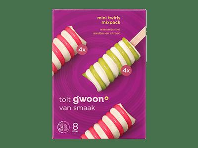 g'woon mini twirls mixpack 8 stuks