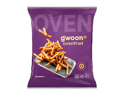 g'woon oven frites 750 gram