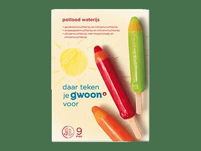 g'woon potlood waterijs 9 stuks