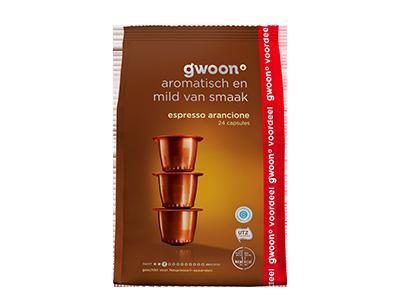 g'woon espresso capsules arancione 24 stuks