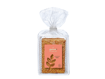 g'woon crackers kaas 200 gram