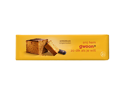 g'woon ontbijtkoek ongesneden 550 gram