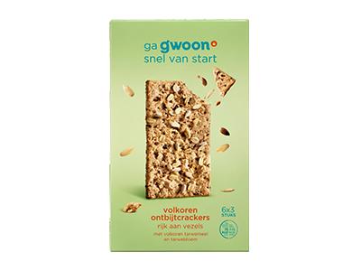 g'woon volkoren ontbijtcrackers 6 x 3 stuks