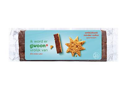 g'woon ontbijtkoek minder suiker gesneden 350 gram