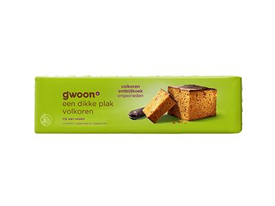 g'woon volkoren ontbijtkoek ongesneden 550 gram