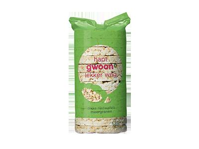 g'woon dikke rijstwafels meergranen 120 gram