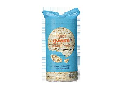 g'woon dikke rijstwafels met zeezout 120 gram