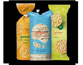 Rijst- en maïswafels