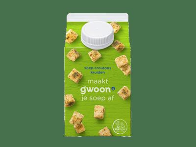 g'woon soepcroutons kruiden 150 gram
