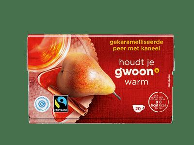g'woon gekaramelliseerde peer met kaneel 20 kopjes
