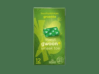 g'woon bouillonblokjes groente