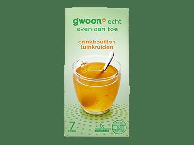 g'woon drinkbouillon tuinkruiden 7 sticks