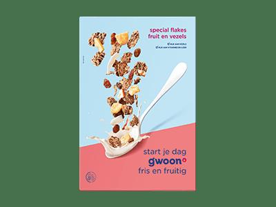g'woon special flakes fruit en vezels 500 gram