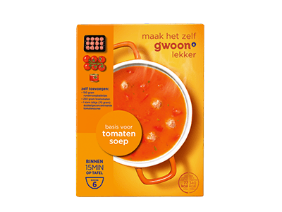 g'woon basis voor tomatensoep 6 borden