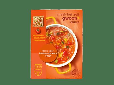 g'woon basis voor tomaten-groentesoep 6 borden