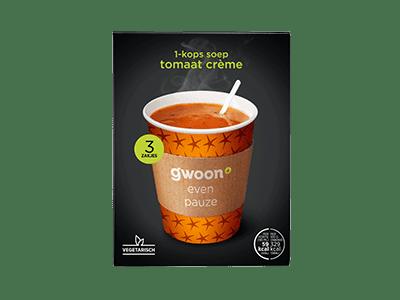 g'woon 1-kops soep tomaat crème 3 zakjes