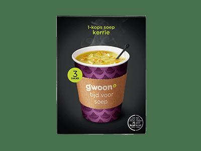 g'woon 1-kops soep kerrie 3 zakjes