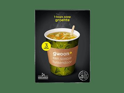 g'woon 1-kops soep groente 3 zakjes