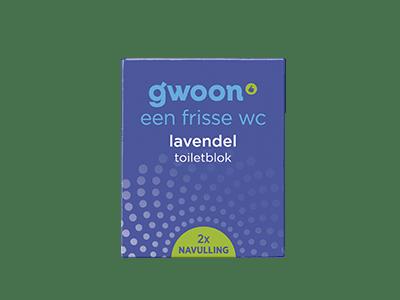 g'woon lavendel toiletblok navulling 2 stuks