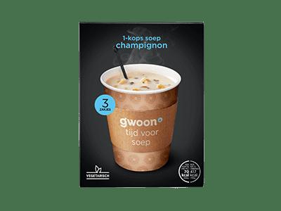 g'woon 1-kops soep champignon 3 zakjes