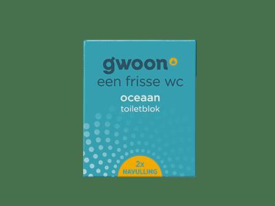 g'woon oceaan toiletblok navulling 2 stuks