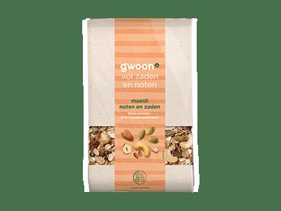 g'woon muesli noten en zaden 450 gram