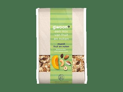 g'woon muesli fruit en noten 450 gram