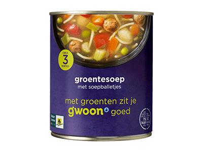 g'woon groentesoep 800 ml