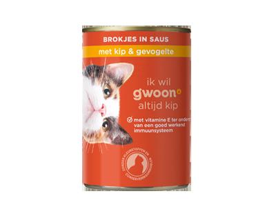 g'woon adult - brokjes in saus met kip en gevogelte 415 gram
