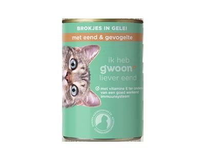 g'woon adult - brokjes in gelei met eend en gevogelte 405 gram