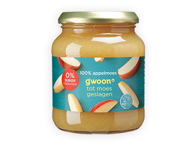 g'woon 100% appelmoes 360g