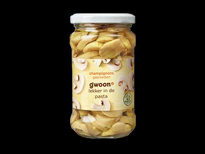 g'woon champignons gesneden 280g