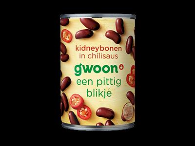 g'woon kidneybonen chilisaus 400g