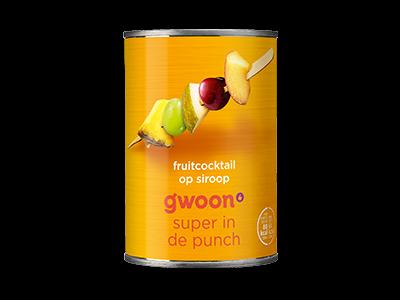 g'woon fruitcocktail 410g