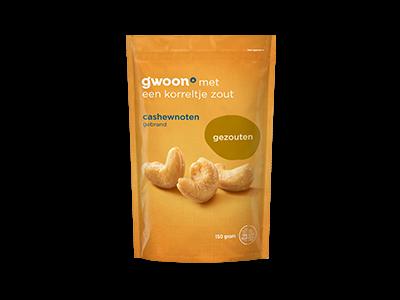 g'woon cashewnoten gezouten 150g