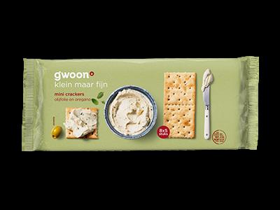 g'woon mini crackers olijfolie 250g