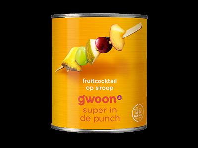 g'woon fruitcocktail 825g