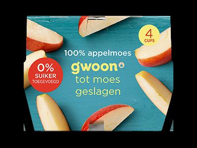 g'woon 100% appelmoes kuipjes 4 stuks