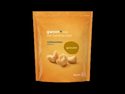 g'woon cashewnoten gezouten 350g