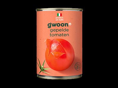 g'woon gepelde tomaten 400g